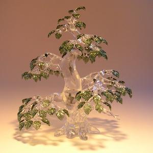 Üveg bonsai ..egyedi kérésre.., Képzőművészet, Otthon & lakás, Üvegművészet, Szobrászat, Nincs két egyforma elkészített üveg bonsai fám. Szabad kézzel és sablonok nélkül készítem el. \nStílu..., Meska