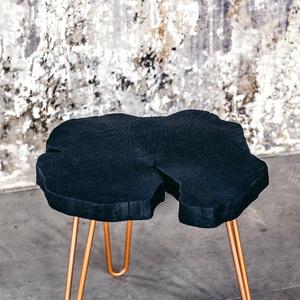 asztalka, Otthon & lakás, Bútor, Asztal, Famegmunkálás, Shou Sugi Ban- Ősi japán technológiával készült bútor. 100% környezetbarát technika, amely során a f..., Meska