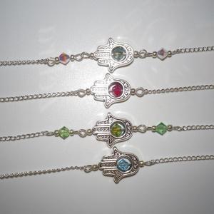 Hamza kéz (Fatima keze) amulett talizmán karkötő Swarovski kristály (Ekszeresladika) - Meska.hu