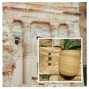 PETRA,szappantartó és fogkefetartó, Otthon & Lakás, Fürdőszoba, Szappantartó, A nabateusok a jordán sivatag legeldugottabb pontján vésték ki a sziklafalakból Petrát,ezt a varázsl..., Meska