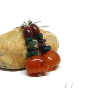 Narancsfa - ásványfülbevaló, Ékszer, Lógós fülbevaló, Fülbevaló, Ez a fülbevaló csupa energia! :) A rajta lévő kristályok élénkítenek, javítják az állóképességet. **..., Meska