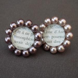 nagyméretű gyöngyös üveggyűrű, Ékszer, Gyűrű, Ékszerkészítés, Ez a nagyméretű gyűrű azoknak való, akik szeretik a feltűnő ékszereket.\nA gyűrű közepén egy 18 mm-es..., Meska