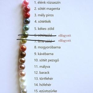 üveg tekla gyöngy 6mm, Gyöngy, ékszerkellék, Üveggyöngy, 6 mm átmérőjű üveg tekla gyöngy többféle színben. Az ár 100 darab gyöngyre vonatkozik (ez kb. 60 cm ..., Meska