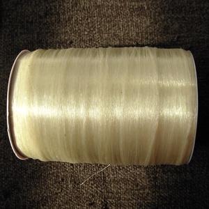 gumis damil gyöngyfűzéshez, Gyöngy, ékszerkellék, Damil, Gumi gyöngyfűzéshez. 0,4 mm vastag (kiváló a legkisebb lyukú gyöngyökhöz is, pl. kásagyöngyhöz is!))..., Meska