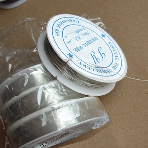 aluminium drót 0,3, Gyöngy, ékszerkellék, Drót, alumínium drót 0,3 mm vastag Az ár 20 méterre vonatkozik (ez egy tekercs).  , Meska