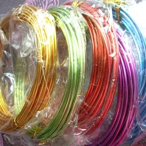 vastag alumínium drót 2mm, Gyöngy, ékszerkellék, Drót, alumínium drót 2 mm vastag Az ár 6 méterre vonatkozik (ez egy tekercs). 5 féle színben, színt a legö..., Meska