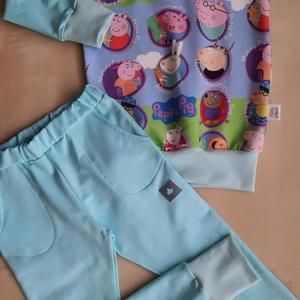 Malackás nadrág-pulóver szett (104-es méret), Ruha & Divat, Babaruha & Gyerekruha, Varrás, Malackás nadrág-pulóver szett hurkolt szabadidő anyagból. \n104-es méret, Meska