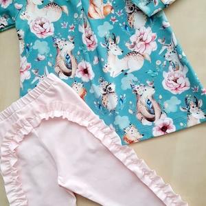 Tunika-leggings szett (86), Ruha & Divat, Babaruha & Gyerekruha, Varrás, Tunika-leggings szett 86-os méretben, mely öko-tex pamut jerseyből készült.\n, Meska