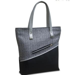 Silver, Táska, Divat & Szépség, Táska, Válltáska, oldaltáska, Közepes méretű kézi táska, melyben a szövet melegsége egy kicsit ellensúlyozza a hideghatású ezüstöt..., Meska