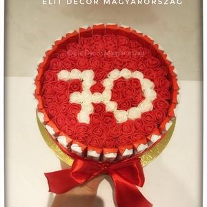 Csoki box habózsákkal, Kulinária (élelmiszer), Esküvő, Mindenmás, Születésnapra rendelhető torta, választható számokkal. Egyedi Elit Decor Magyarország termék. Csoki ..., Meska