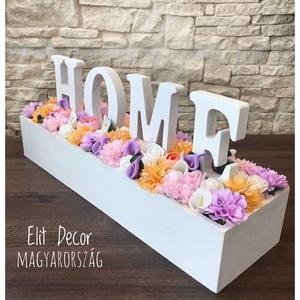 Faládikóban virágok Home felirattal (Elitdecor) - Meska.hu