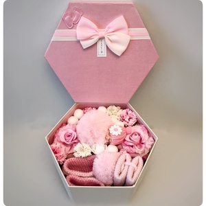 22 babaváró doboz kislányoknak, Játék & Gyerek, Babalátogató ajándékcsomag, 22 cm széles díszdobozban dekorációk és hasznos termékek.  Keresse webshopunkat: Www.elitdecor.hu..., Meska
