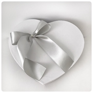 Szív alakú szürke babaváró doboz.  (Elitdecor) - Meska.hu