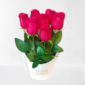7 szál vörös rózsa dísz dobozban, Otthon & Lakás, Dekoráció, 7 szál vörös rózsa dísz dobozban. Nem is gondolná, hogy nem igazi vörös rózsákból áll ez a csokor. P..., Meska