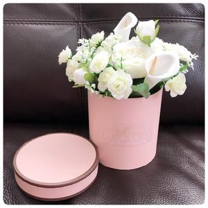 Rózsaszín Vintage rózsabox, Otthon & Lakás, Dekoráció, Rózsaszín Vintage rózsabox. Elegáns ajándék bármilyen alkalomra. Doboz mérete: 12.2 x 12.2 cm, magas..., Meska