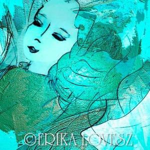 Ocean Dream - © Erika Lovesz 2005, Otthon & lakás, Dekoráció, Kép, Fotó, grafika, rajz, illusztráció, Türkiz Óceán Álom\nTurquoise Ocean Dream  - © Erika Lovesz 2005\n20 cm x 28 cm- es nyomat, \nfehér pasz..., Meska