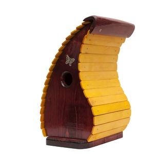Rubinvilla madárodú, Otthon & lakás, Lakberendezés, Kerti dísz, Famegmunkálás, A terméket tömör fenyőből készítettem, bíbor és cédrus páccal színeztem és csónaklakkal kezeltem. Fé..., Meska