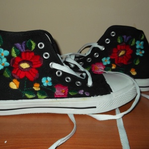 hímzett cipö 35-os méret, Cipő, Cipő & Papucs, Ruha & Divat, Hímzés, himzett nöi cipő, Meska