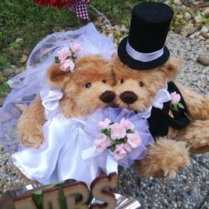 Esküvői pár, Maci, Plüssállat & Játékfigura, Játék & Gyerek, Baba-és bábkészítés, Varrás, Mackóéknál nagy nap van! Igazi szerelem az övék, amit nem titkolnak a világ elől. A menyasszonyt és ..., Meska