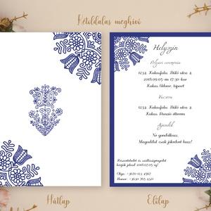 Esküvői meghívó / népi mintás meghívó / romantikus esküvő / székely mintás meghívó / rusztikus meghívó / hagyományőrző (EmmaCreativeHome) - Meska.hu
