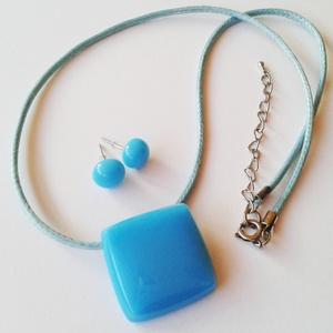 Kék, üveg ékszerszett (Empire) - Meska.hu