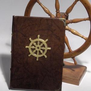 Könyv, napló, emlékkönyv, vendégkönyv valódi bőr borítóval, Férfiaknak, Horgászat, vadászat, Naptár, jegyzet, tok, Könyvkötés, Papírművészet, Ezt az egyedi könyvet mindazoknak ajánlom, akik különleges vendégkönyvet, emlékkönyvet keresnek. Nag..., Meska