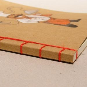 Füzet pocakos szakáccsal. Kézzel rajzolt és fűzött füzet, receptgyűjtő, receptfüzet ínyenceknek (enciboltja) - Meska.hu
