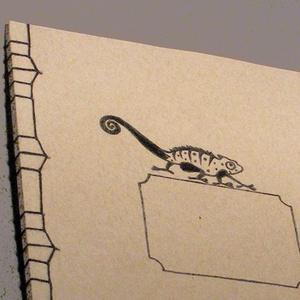 A/4-es méretű füzet. Kézzel fűzött, kézzel rajzolt; natúr borító (enciboltja) - Meska.hu
