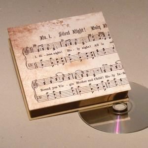 CD tartó doboz, díszdoboz, doboz CD-hez, vintage hangulatú,  sötét- és világosbarna vászonnal (enciboltja) - Meska.hu