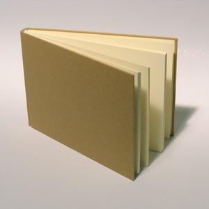 Natúr, kemény borítós, díszíthető könyv, fekvő B5 méretben. Napló, emlékkönyv, vendégkönyv, Otthon & lakás, Naptár, képeslap, album, Jegyzetfüzet, napló, Könyvkötés, Natúr, kemény borítós, díszíthető könyv csomagolópapír borítással, fekvő B/5-ös méretű.\nA natúr borí..., Meska