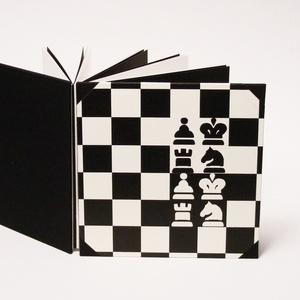 Fotóalbum sakkozóknak, sakkos scrapbook, fekete és fehér fényképalbum, Album & Fotóalbum, Papír írószer, Otthon & Lakás, Könyvkötés, Papírművészet, Fotóalbum sakkozóknak, sakkos scrapbook album, fényképalbum sakktáblás borítóval, fekete és fehér be..., Meska