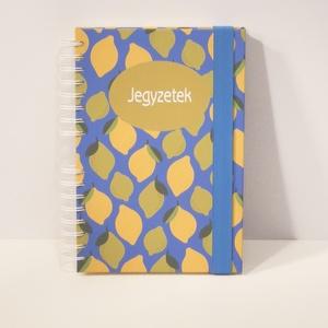 Spirálfüzet, spirálozott jegyzetfüzet, citrusos notesz