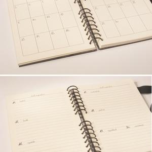Nőies, személyre szabható határidőnapló 2020-ra, spirálozott naptár, heti beosztású 2020-as napló, pasztellszínű borító (enciboltja) - Meska.hu