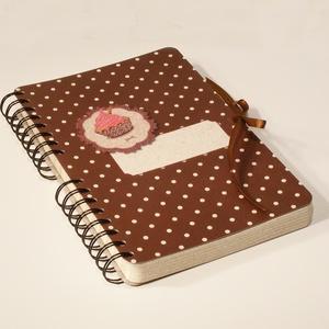 Receptgyűjtő, üres recepteskönyv süteményekhez, süteményes könyv, pöttyös, spirálozott, Otthon & lakás, Konyhafelszerelés, Receptfüzet, Könyvkötés, Papírművészet, Receptgyűjtő, üres recepteskönyv süteményekhez, süteményes könyv, spirálfüzet süteményekhez pöttyös ..., Meska