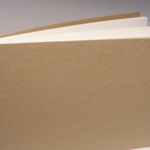 Nagyméretű, fekvő formájú, kemény borítós, díszíthető fotóalbum. Spirálozott fényképalbum, natúr csomagolópapír borítás - Meska.hu