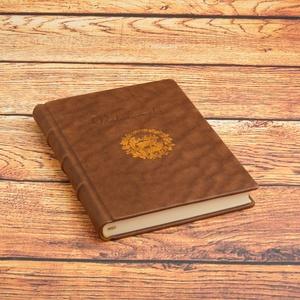 Névre szóló vadásznapló, valódi bőr napló vadászoknak, kézzel fűzött valódi bőr könyv névvel (enciboltja) - Meska.hu