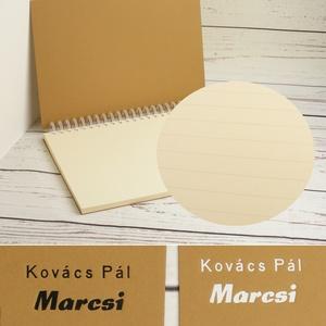 Kraftbarna spirálfüzet, B6 méretű spirálozott füzet. Személyre szabható, névvel, keresztnévvel vagy monogrammal - Meska.hu