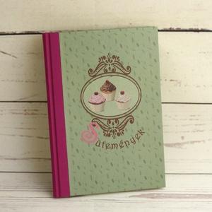 Sütemények könyve, receptgyűjtő sütikedvelőknek, üreslapos receptfüzet, süteményeskönyv, ajándék ínyenceknek, sütikhez - Meska.hu