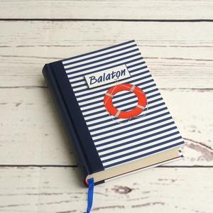 Balaton napló, emlékkönyv, utazási napló, könyv nyaralási emlékönyv sima, üres lapokkal - Meska.hu