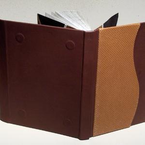 Barna valódi bőr napló, jegyzetfüzet, notesz. Kézzel fűzött barna vendégkönyv, emlékkönyv. Mágnessel záródik (enciboltja) - Meska.hu