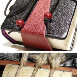 Különleges, valódi bőr napló, középkori, ún. kolostorkötéssel, valódi bordára fűzéssel, antikolt lapokkal. Mini kódex - Meska.hu