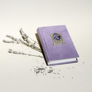 Kordbársony napló, halványlila emlékkönyv, vintage titkosnapló. Régi, eredeti, szecessziós fém képkerettel, üres lapok, Papír írószer, Otthon & Lakás, Jegyzetfüzet & Napló, Könyvkötés, Papírművészet, Kordbársony napló, halványlila emlékkönyv, vintage titkosnapló. Régi, eredeti, szecessziós fém képke..., Meska