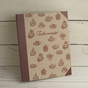 Süteményes konyhai mappa, receptgyűjtő, iratgyűjtő sütni szeretőknek, receptes dosszié sütireceptekhez (enciboltja) - Meska.hu