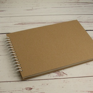 Rajzfüzet díszíthető kemény borítóval, spirálozott füzet A4 rajzlapokkal, SK díszíthető natúr csomagolópapír borítással, Otthon & lakás, Férfiaknak, Naptár, képeslap, album, Fotóalbum, Rajzfüzet díszíthető kemény borítóval, spirálozott füzet A4 rajzlapokkal, SK díszíthető natúr csomag..., Meska