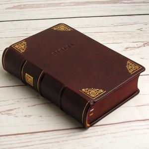 Biblia valódi bőr borítóval, felújított 1975-ös kiadás. Aranyozott és vaknyomással díszített bordó borjúbőr borító, Könyv, Papír írószer, Otthon & Lakás, Könyvkötés, Bőrművesség, Biblia valódi bőr borítóval, felújított 1975-ös kiadás. Aranyozott és vaknyomással díszített bordó b..., Meska