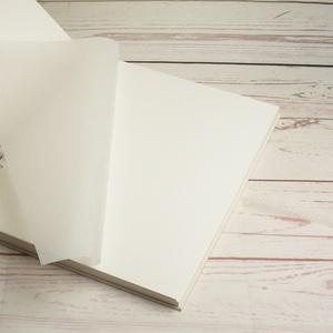 Hófehér esküvői fotóalbum, spirál kötés, fehér lapok és pókpapír, szív alakú ablakocskák, organza szalag - Meska.hu