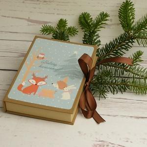 Karácsonyi képeslapok dobozban. Üdvözlőlapok karácsonyra díszdobozzal, karácsonyi ajándék, karácsonyi üdvözlet szettben, Otthon & Lakás, Karácsony & Mikulás, Karácsonyi képeslap, Könyvkötés, Papírművészet, Karácsonyi képeslapok dobozban. Üdvözlőlapok karácsonyra díszdobozzal, karácsonyi ajándék, karácsony..., Meska