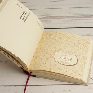 Múltidéző receptgyűjtő könyv, recepteskönyv vintage stílusban, egyedi címmel, névvel kérhető, nyomtatott vászon borító - otthon & lakás - konyhafelszerelés - receptfüzet - Meska.hu