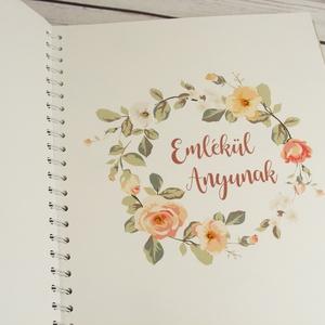 Egyedi felirattal is kérhető fotóalbum virágos borítóval, anyák napjára, esküvőre. Pókpapírral készül, borító párnázott - Meska.hu