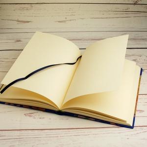 Napló királykék bőr gerinccel és bőr sarkokkal.  Kézzel fűzött jegyzetfüzet, notesz, emlékkönyv, vendégkönyv, sima lapok - Meska.hu